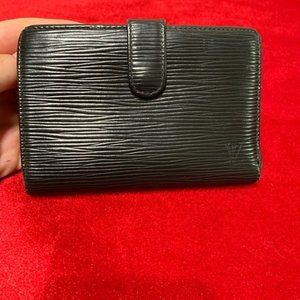 Authentic  Louis Vuitton black epi wallet